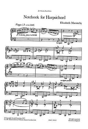 Elizabeth Maconchy: Elizabeth Maconchy Notebook For Harpsichord