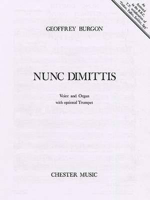 Geoffrey Burgon: Nunc Dimittis (Voice/Organ)