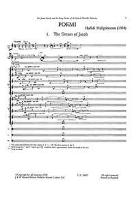 Haflidi Hallgrímsson: Poemi For Violin And String Orchestra (Full Score)