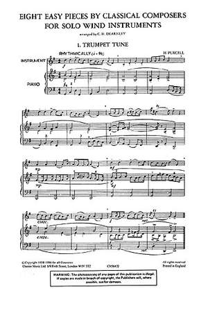 Christopher Dearnley: 8 Easy Pieces For Trumpet And Piano