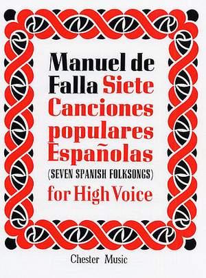 Manuel de Falla: 7 Canciones Populares Espanolas