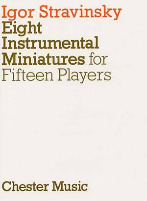 Igor Stravinsky: Eight Instrumental Miniatures (Miniature Score)