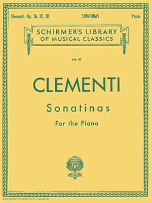 Muzio Clementi: 12 Sonatinas, Op. 36, 37, 38 Product Image