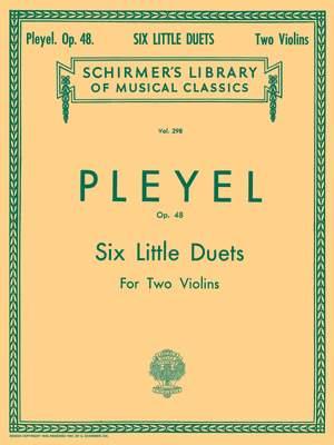 Ignace Pleyel: Six Little Duets, Op. 48