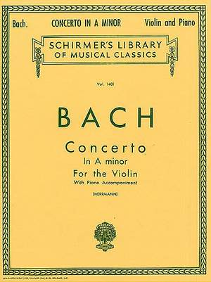 Johann Sebastian Bach: Violin Concerto No.1 In A Minor BWV1041