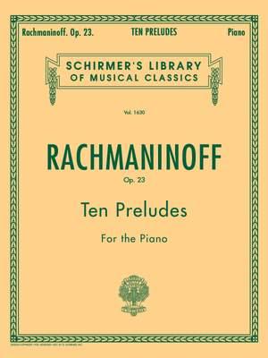 Sergei Rachmaninov: Ten Preludes For Piano Op.23