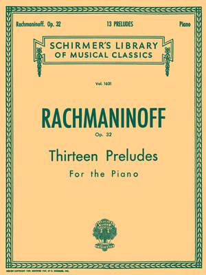 Sergei Rachmaninov: Thirteen Preludes For Piano Op.32