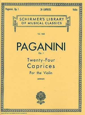 Niccolò Paganini: Twenty-Four Caprices For Solo Violin Op.1