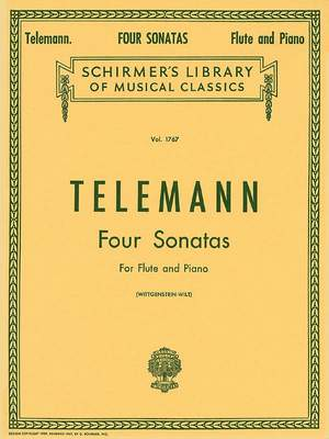 Georg Philipp Telemann: Four Sonatas For Flute And Piano