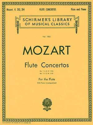 Wolfgang Amadeus Mozart: Flute Concertos No. 1 In G Product Image