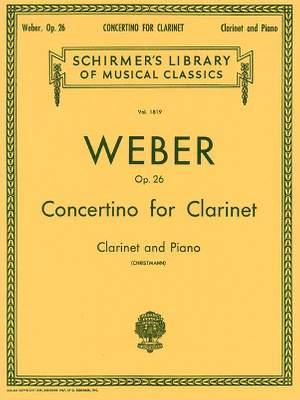 Carl Maria von Weber: Clarinet Concertino In E Flat Op.26