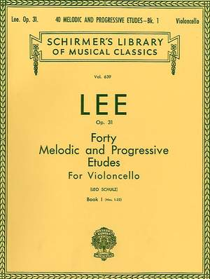 S Lee: 40 Melodic and Progressive Etudes, Op. 31