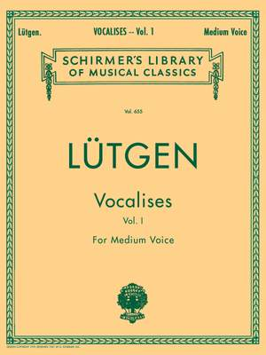 B. Lütgen: Vocalises (20 Daily Exercises) - Book I
