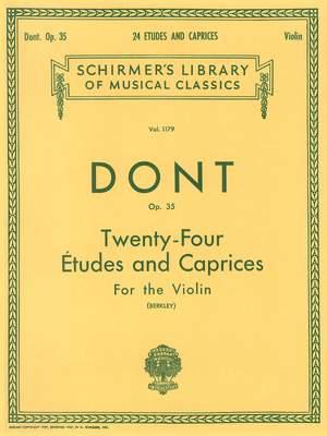 Jakob Dont: 24 Etudes and Caprices, Op. 35