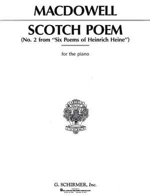 Edward MacDowell: Scotch Poem Op.31 No.2