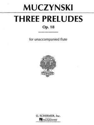 Robert Muczynski: Three Preludes, Op. 18