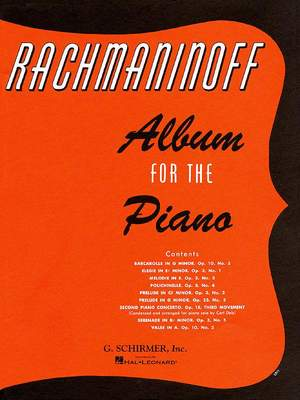 Sergei Rachmaninov: Album For The Piano