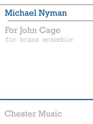 Michael Nyman: For John Cage Brass Ensemble Product Image
