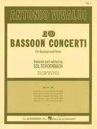 Antonio Vivaldi: 10 Bassoon Concerti Volume 1