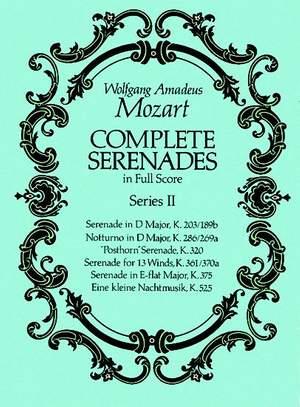 Wolfgang Amadeus Mozart: Complete Serenades In Full Score - Series II