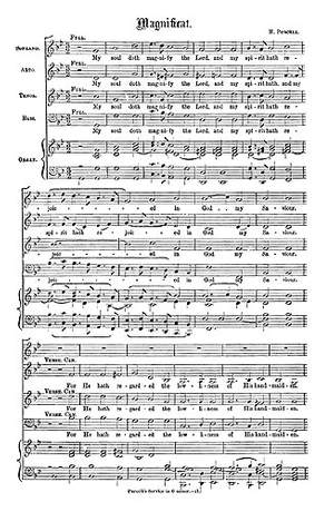 Henry Purcell: Magnificat And Nunc Dimittis In G Minor