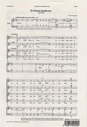 Charles Villiers Stanford: Te Deum Laudamus