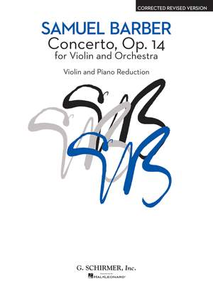 Samuel Barber: Concerto Op. 14 For Violin And Orchestra Product Image