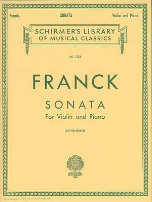 César Franck: Sonata In A For Violin And Piano Product Image