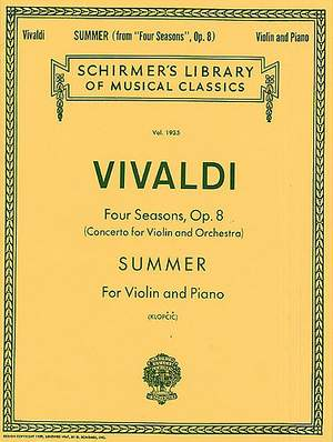 Antonio Vivaldi: Summer From 'Four Seasons' Op.8