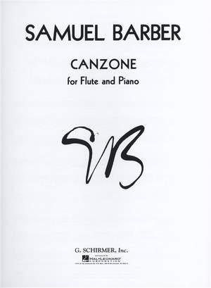 Samuel Barber: Canzone