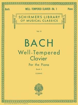Johann Sebastian Bach: Well-Tempered Clavier For The Piano Book I