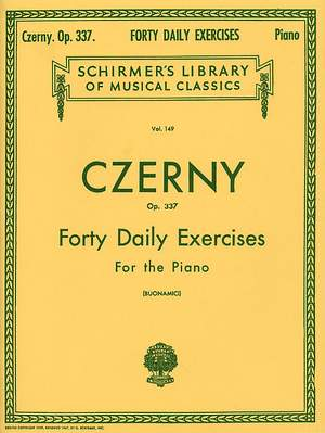 Carl Czerny: Forty Daily Exercises Op.337