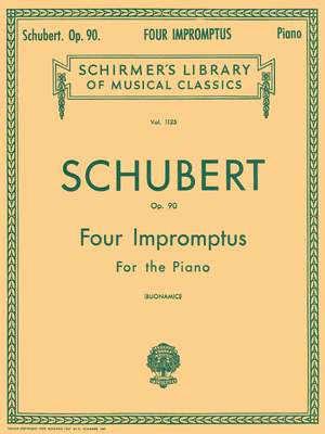 Franz Schubert: Four Impromptus For Piano Op.90