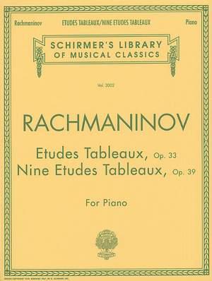 Sergei Rachmaninov: Etudes Tableaux Op.33 - Nine Etudes Tableaux op.39