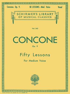 Joseph Concone: 50 Lessons, Op. 9
