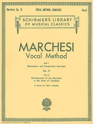 Mathilde Marchesi: Vocal Method, Op. 31