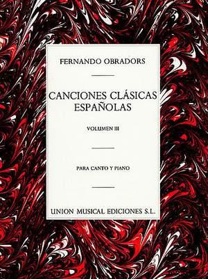Canciones Clasicas Espanolas Volume 3