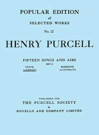 Henry Purcell: Fifteen Songs And Airs - Set 2 (Soprano Or Tenor)