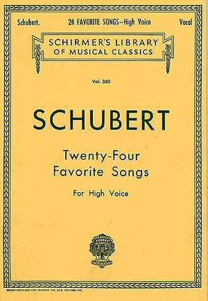 Franz Schubert: Twenty-Four Favorite Songs For High Voice