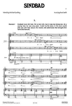 Paul Smith: Sindbad Vocal Score