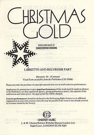 Christopher Hinkins: Christmas Gold (1-9 Copies)