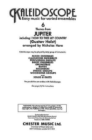 Gustav Holst: Kaleidoscope: Jupiter