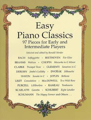 Easy Piano Classics 97 Pieces For Early