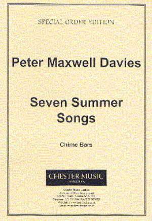 Peter Maxwell Davies: Seven Summer Songs - Chime Bars
