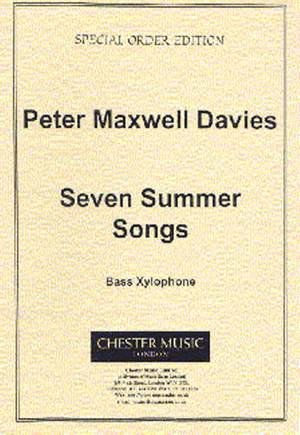 Peter Maxwell Davies: Seven Summer Songs - Bass Xylophone