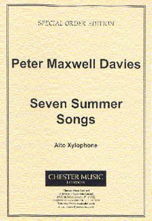 Peter Maxwell Davies: Seven Summer Songs - Alto Xylophone