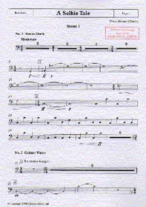 Peter Maxwell Davies: A Selkie Tale - Bass Part