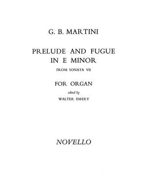 Giovanni Battista Martini: Prelude And Fugue In E Minor