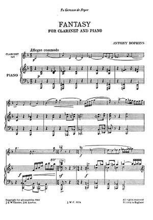 Antony Hopkins: Fantasy (Clarinet And Piano)