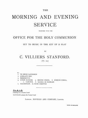 Charles Villiers Stanford: Communion Service B Flat Op.10